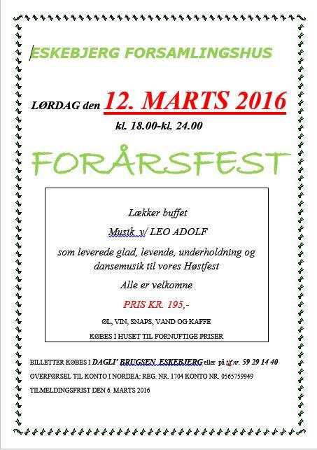 foraarsfest 2016